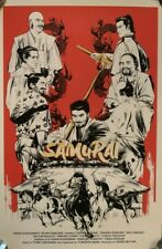 x/150 Seven Samurai Zi Xu Movie Poster Screen Print Akira Kurosawa Like Mondo