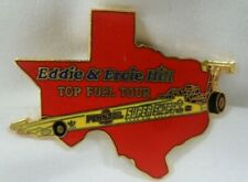 Eddie & Ercie Hill Top Fuel Tour Pennzoil Texas Vintage Racing Funny Car Hat Pin