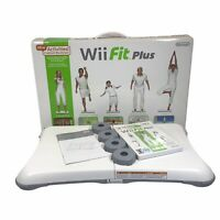Nintendo Wii Fit Plus Balance Board (RVL-021) & Game - Complete ~ TESTED