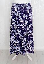 Ladies Maxi Skirt 18 Plus Size M&Co Women Floral LINEN BLEND Pleat Long Flare