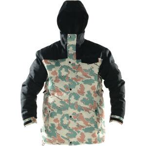 New Men's NEFF Winston Down Snowboard Jacket Large Black / Camo