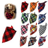 Dog Bandanas Large Pet Bandana For Dog Cotton Plaid Washable Scarf Ties Collar