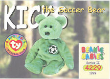 Ty Beanie Babies Bboc Card - Series 2 Common - Kicks the Soccer Bear - Nm/Mint