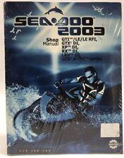 2003 Sea Doo GTI LE RFI Jet Ski Parts Catalog Manual