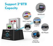 Wavlink TypeC Gen 1 Docking,DUAL Bay Hard Disk Clone,SATA HDD 2.5/3.5 Hard Drive