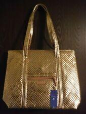 Vera Bradley Rose Gold Shimmer Metallic Iconic Large Vera Tote -  NWT