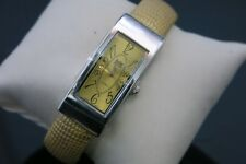 Jolie Montre Girls Bangle/Cuff Style Watch Argentina Copper Color Rectangle Dial