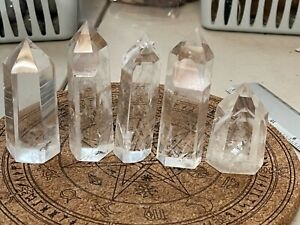 AAAA GRADE CRYSTAL CLEAR QUARTZ TOWER WITH PHANTOMS X 1 PIECE