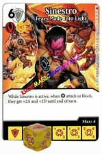 067 SINESTRO Fears made into Light - Common - WAR OF LIGHT - DC Dice Masters