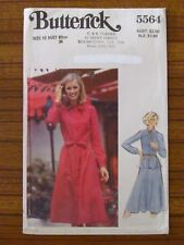 BUTTERICK PATTERN - 5564 LADIES DRESS FRONT TUCKS TIE NECK TOP SKIRT SZ 12 UNCUT