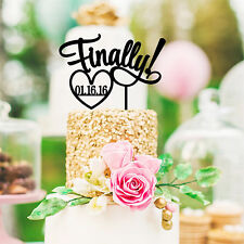 La nostra splendida infine con data wedding cake topper