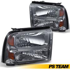2005-2007 Ford F250 F350 F450 F550 Superduty 05 Excursion Smoke Lens Headlights