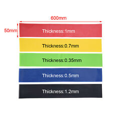 5 Pcs Resistance Loop Band Exercise Yoga Bands Rubber Fitness Training Strength