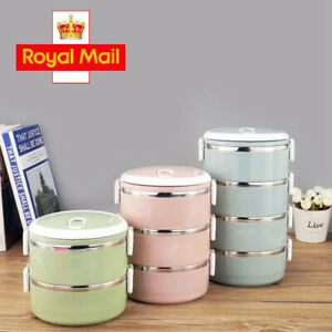 1/2/3/4 Layers Thermal Insulated Bento Stainless Steel Food Container Lunch Box