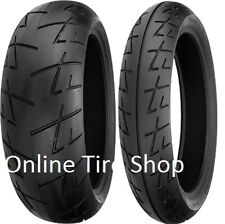 Shinko 009 Raven Motorcycle Tire Set 120/70-17 180/55-17 120/70zr17 180/55rz17