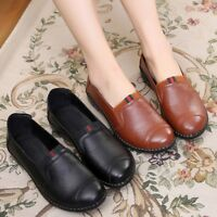 AS Women Work Shoes Genuine Leather Flat Heel Soft Breathable Casual Shoes US5-9