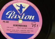 78rpm library music DOLF VAN DER LINDEN remembrance / golden fiction PR 562