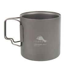 TOAKS Titanium Coffee Mug Double Wall Camping Water Cup With Handle Mug 450ml