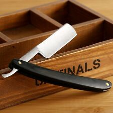 New Steel Straight Edge Dark Wood Handle Barber Razor Folding Shaving Knife