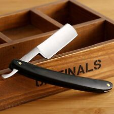 7.6cm Steel Straight Edge Barber Razor Folding Shaving Knife Dark Wood Handle