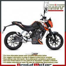 Scarico Completo MIVV GP Nero Acciaio inox per Ktm 125 Duke 2014 14