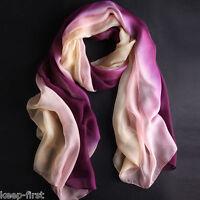 New Pretty Women's Gradient Color Wrap Chiffon Long Soft Fashion Scarf Shawl