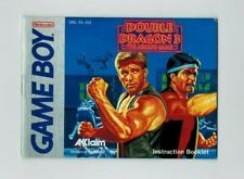 Gameboy Double Dragon 3 Instructions Only