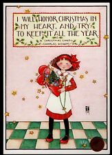 Mary Engelbreit Girl Heart Presents Dickens Large - 1984 Christmas Card New