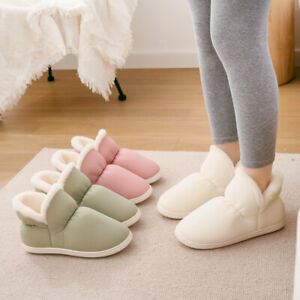 Indoor Warm Winter Shoes Soft House Slippers Plush Slip Men Women Home Boots
