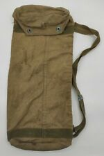 More details for vintage war us 1944 ww2 army officers canvas kit rocket bag military collectable