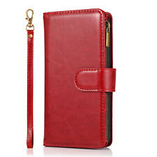 Luxury Leather Flip Card Zip Wallet Phone Case Cover For iPhone 12 SE 8 XR 11 6s