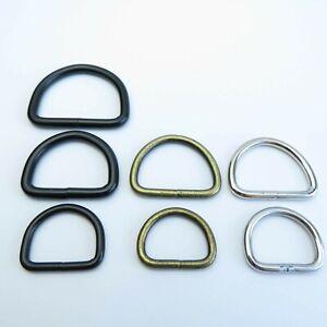 D Rings Antique Brass Nickel Black 20,25 mm Saddlery Sewing Bag Making Hardware