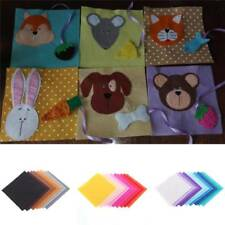 40PCS/Set 15x15cm Squares Non Woven Felt Fabric Sheets For DIY Craft Scrapbooks