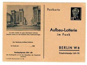 DDR Funklotterie - Postkarte FP 1  ungebraucht