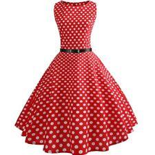 c7ef1594772 Rockabilly Kleid Gr S 34 36 rot weiße Punkte NEU Damen Kleid+Gürtel