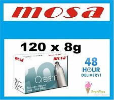 120 MOSA Cream Chargers Dispenser NOS N2O Nitrous Oxide cannister FREE DELIVERY