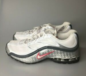 Nike Womens Reax Run 5 Running White Metallic Silver Grey Shoes Sz 9.5