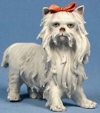 Yorkshire terrier porzellanhund hund hundefigur  Bisquit porzellanfigur