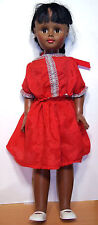 "1967 Uneeda 24"" Af-Am Vinyl & HP Doll in Red - VGC"