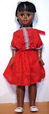 "1967 Uneeda 24"" Af-Am Vinyl & HP Doll in Red - VGC"
