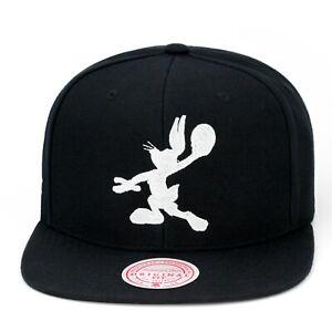 Mitchell & Ness X Space Jam Snapback Hat Cap - Black/White Bugs Bunny Jordan