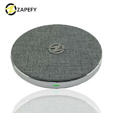 Fabric Fast Wireless Charger Slim Certified iPhone  12 Samsung