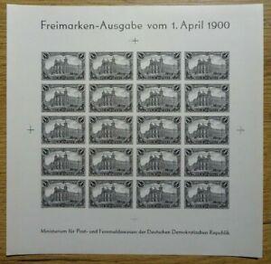 DR Deutsches Reich Germania Bogen 1,- Mark Reichspost 1900 Nachdruck der DDR
