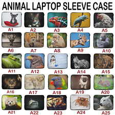 Animal Laptop Tablet Sleeve Case CUSTOM Personalised Cover Bag 12 13 14 15 Inch