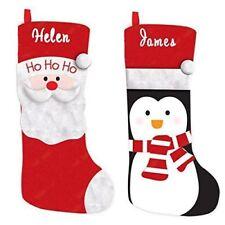 Personalised Christmas Santa or Penguin Xmas Stocking - ANY NAME Deluxe Stocking
