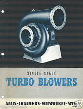 Equipment Brochure - Allis-Chalmers - Turbo Blowers - c1950's (E2786)