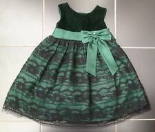 ••• ВNWT Girls' Party Outfit • Olivia Rose Velvet Lace Dress with Gem • 24mons