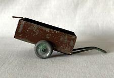Vintage Unbranded, Primitive Metal 2 Wheeled Pull Cart / Trailer
