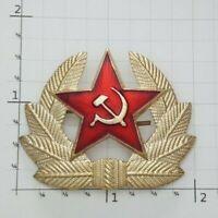 Red Army Star Russian USSR Soviet Generals Hat Pin Cap Badge Communist Russia