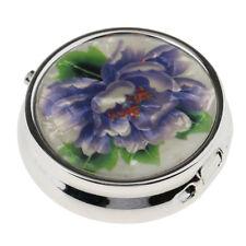Pocket Size Travel Metal Pill Box Medicine Capsule Organizer Jewelry Case